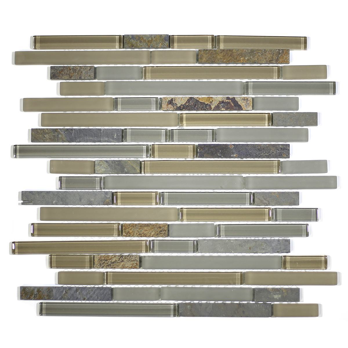 MA19-RB  RANDOM BRICK GLASS AND STONE MOSAIC BLEND