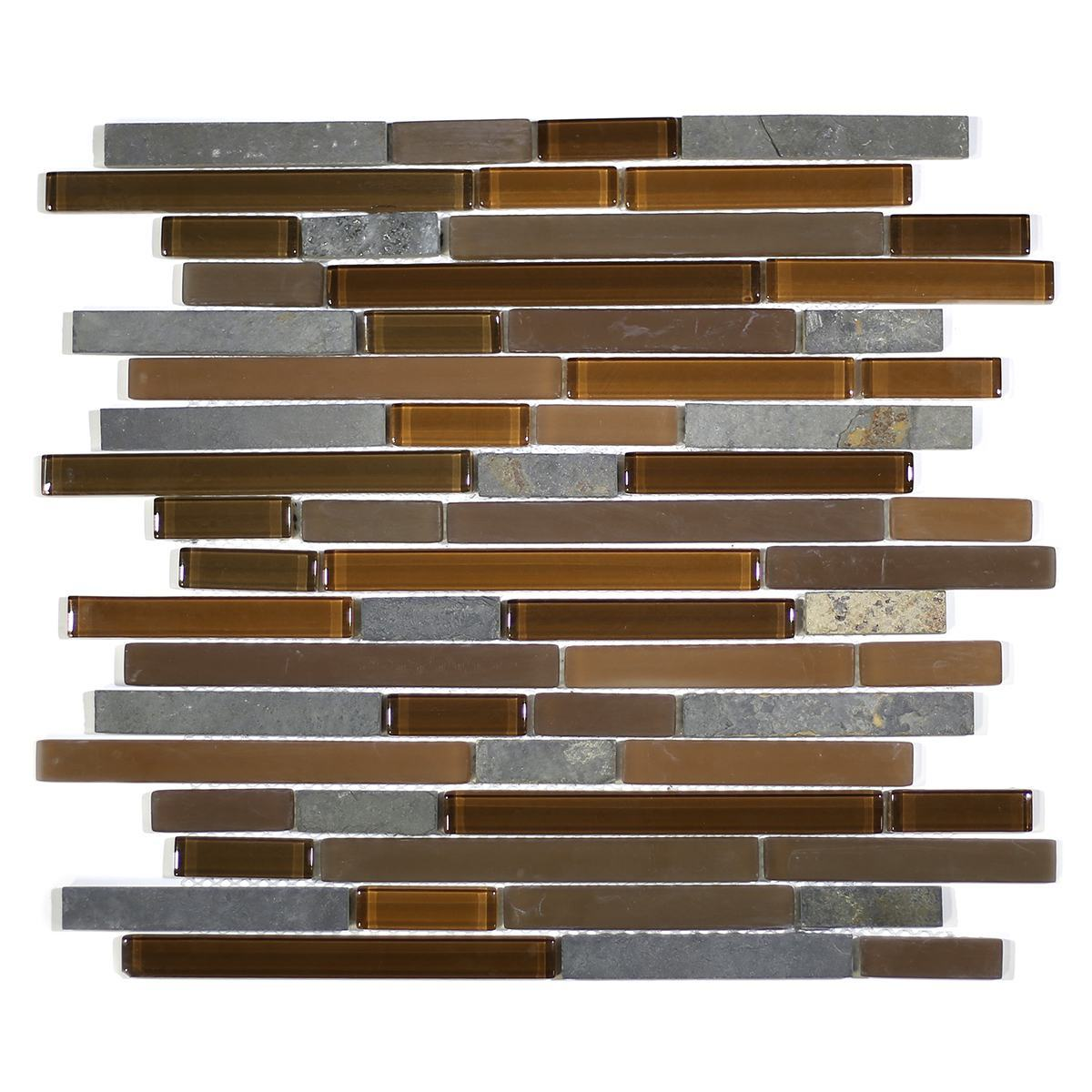 MA21-RB  RANDOM BRICK GLASS AND STONE MOSAIC BLEND