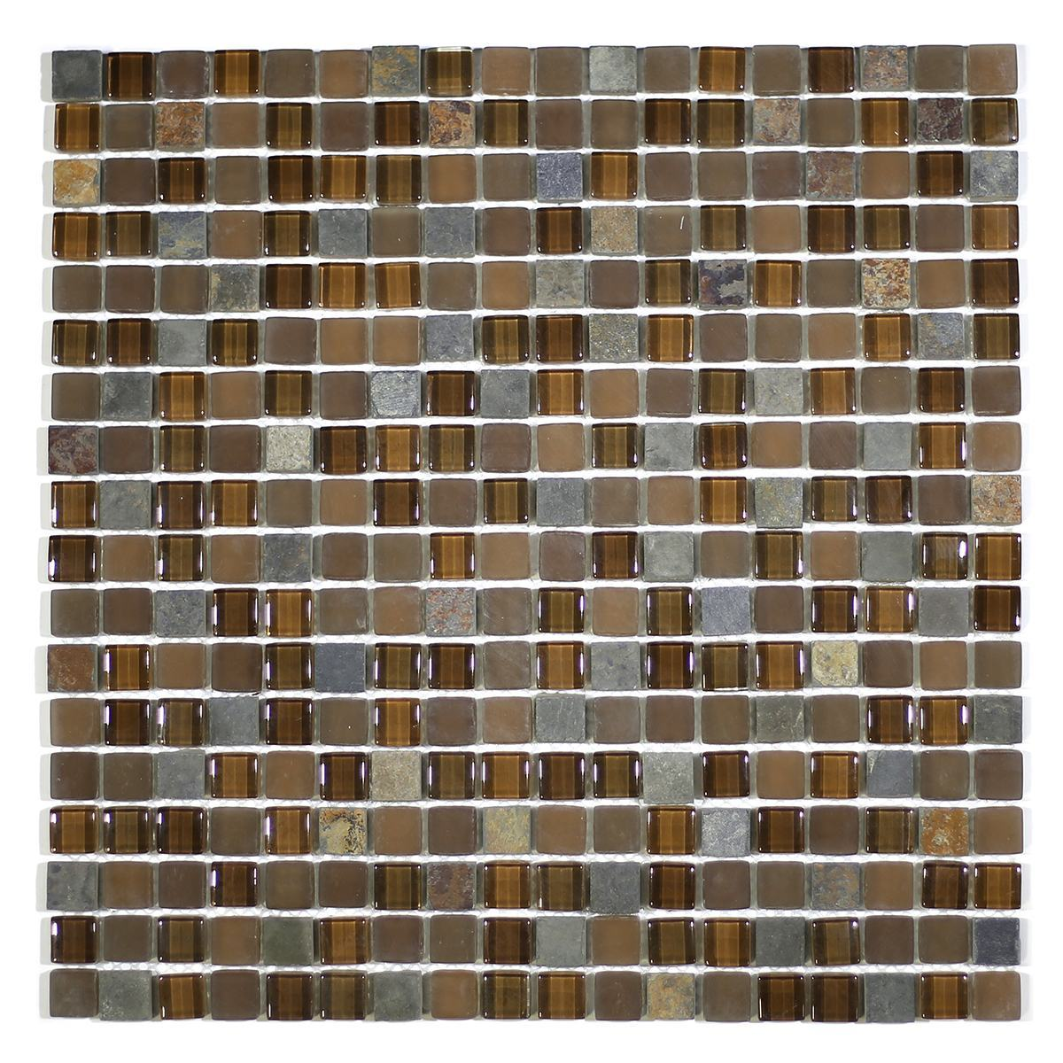 "MA21-S  5/8"" SQUARE GLASS AND MARBLE MOSAIC BLEND"