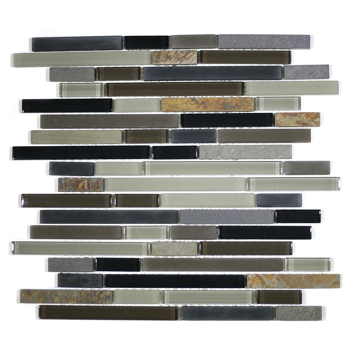 MA22-RB  RANDOM BRICK GLASS AND STONE MOSAIC BLEND