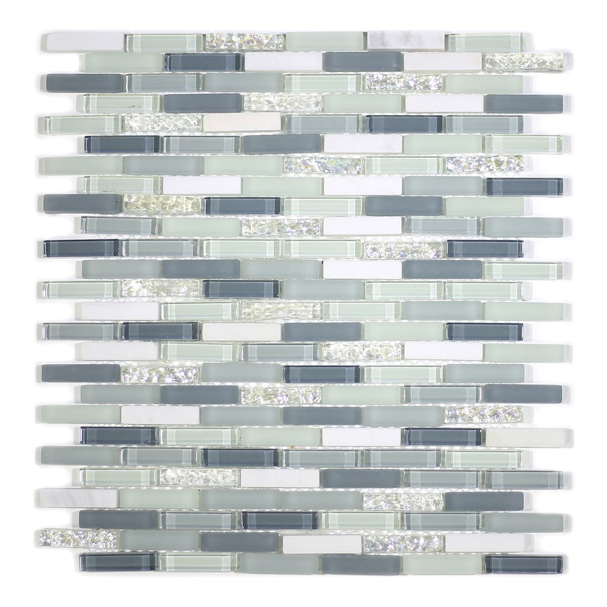MA24-MB  MINI BRICK GLASS MOSAIC AND MARBLE BLEND