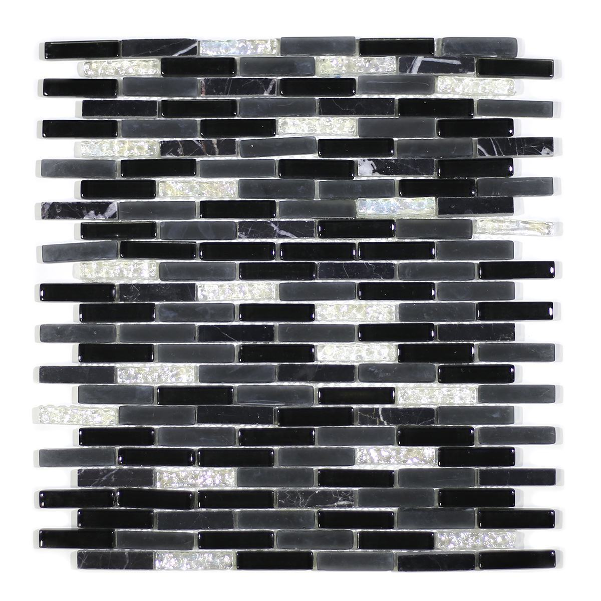 MA25-MB  MINI BRICK GLASS MOSAIC AND MARBLE BLEND