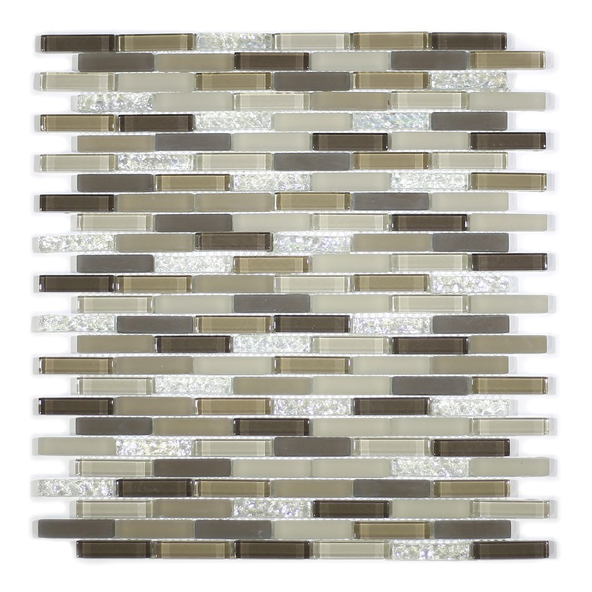 MA26-MB  MINI BRICK GLASS MOSAIC AND MARBLE BLEND