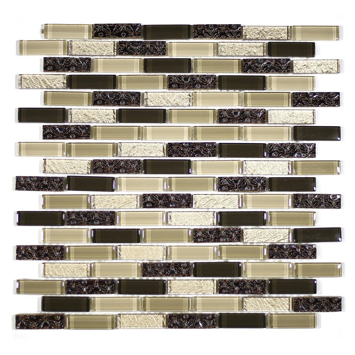 "MA32-LB  2"" BRICK GLASS AND RESIN DECORATIVE PIECES MIX"