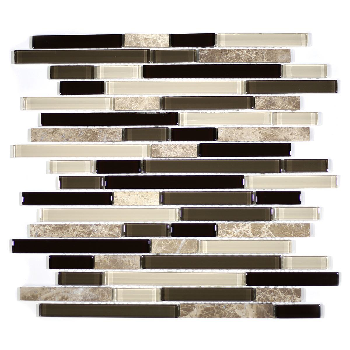 MA23-RB  RANDOM BRICK GLASS MOSAIC AND MARBLE BLEND