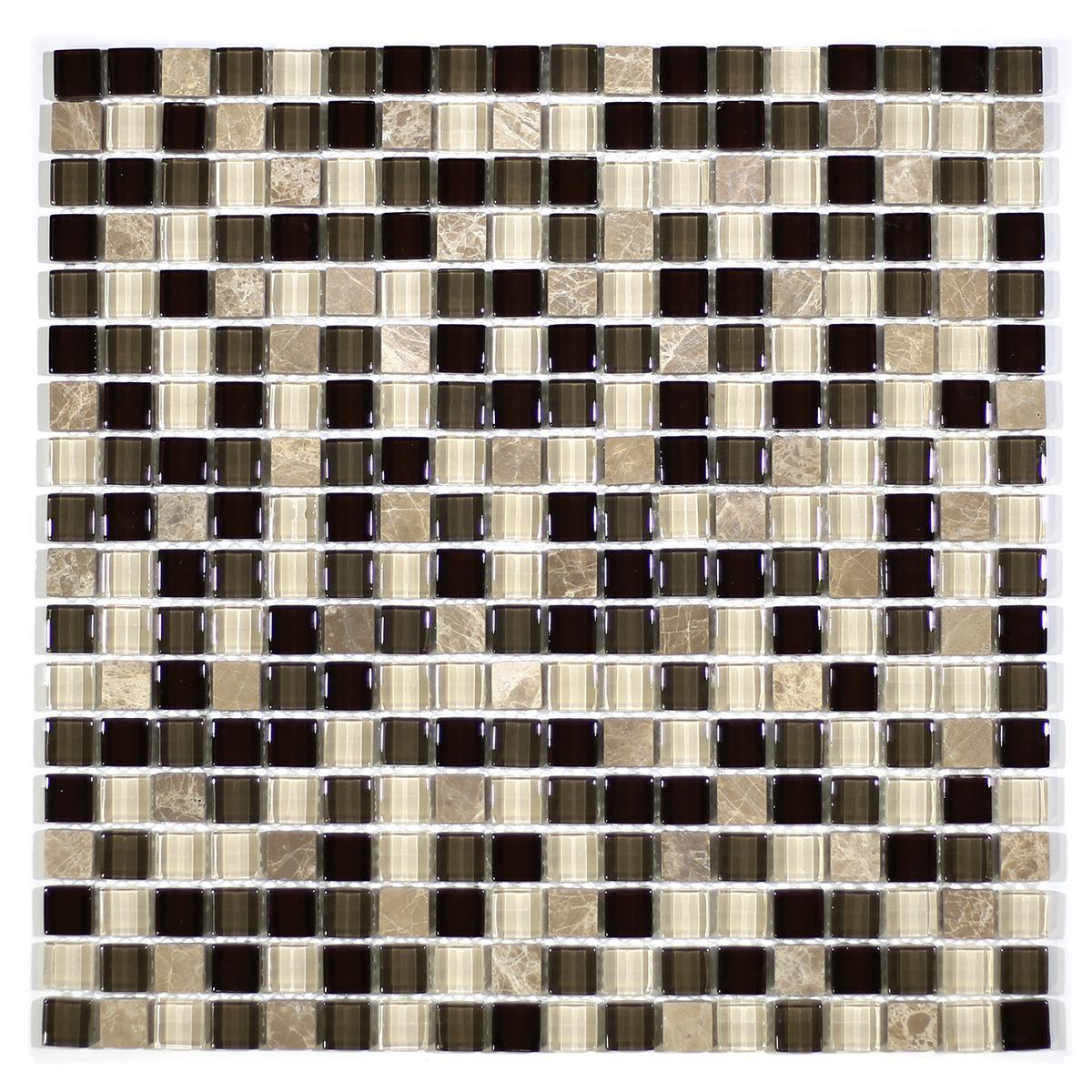 "MA23-S  5/8"" SQUARE GLASS MOSAIC AND MARBLE BLEND"