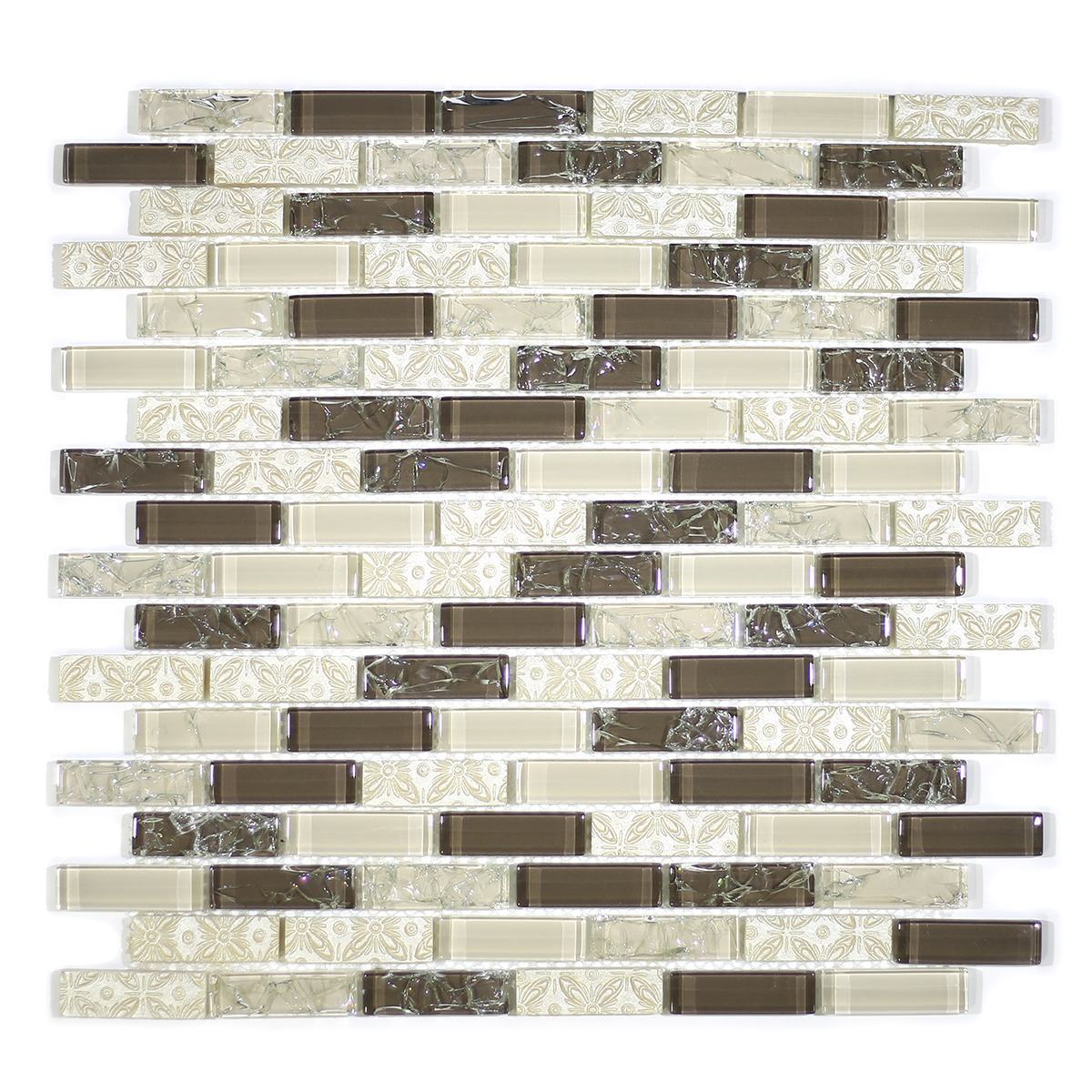 "MA37-LB  2"" BRICK GLASS AND RESIN DECORATIVE PIECES MIX"