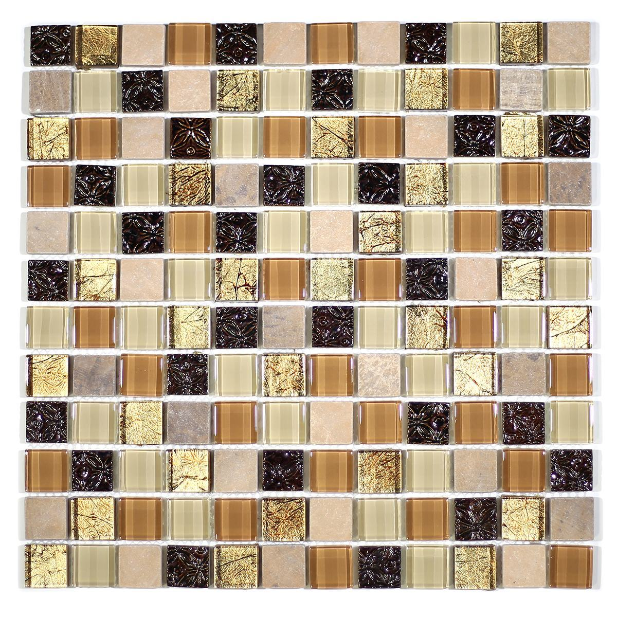 "MA40-LS  1"" SQUARE GLASS AND RESIN DECORATIVE PIECES MIX"