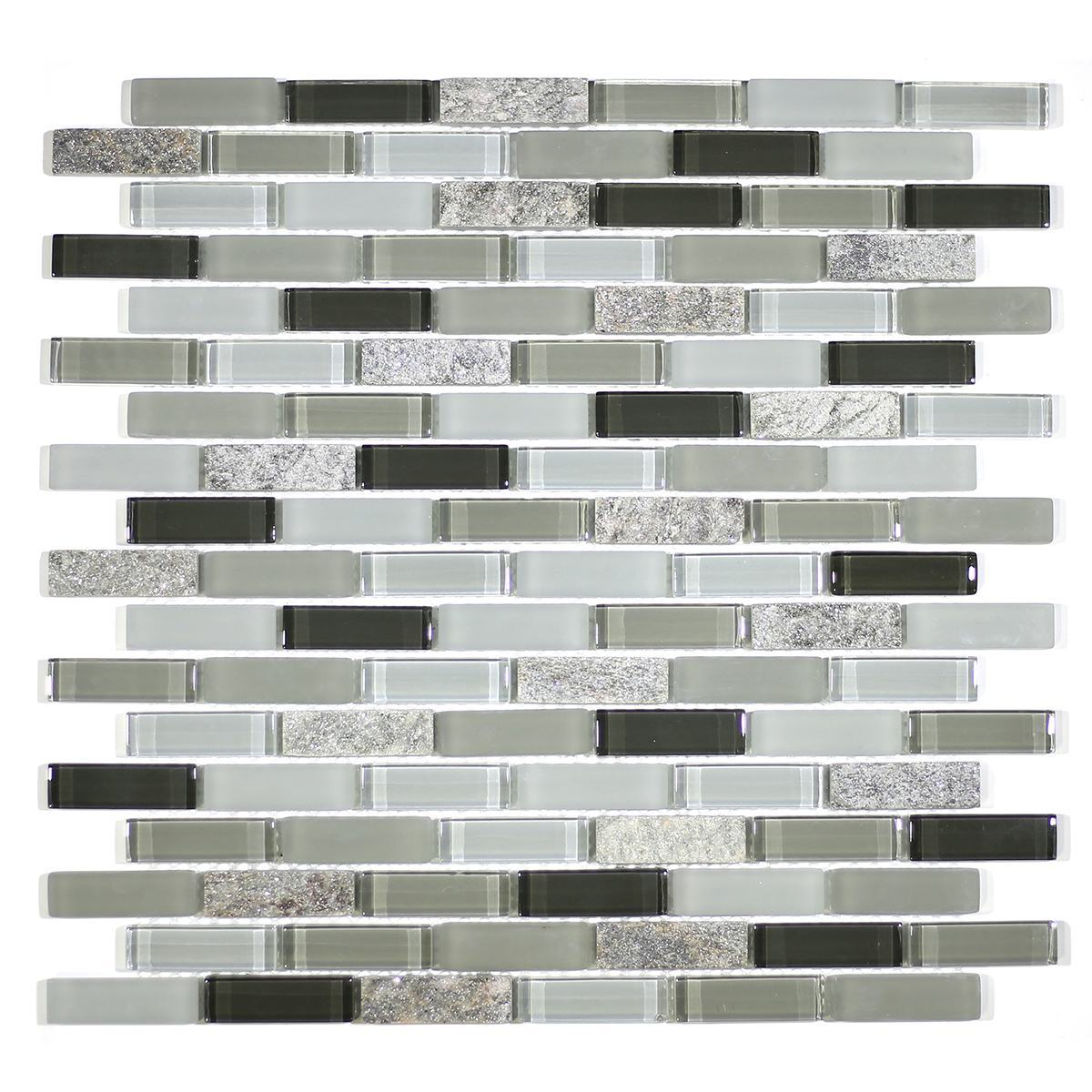 "MA56-LB  2"" BRICK GLASS AND STONE MOSAIC MIX"