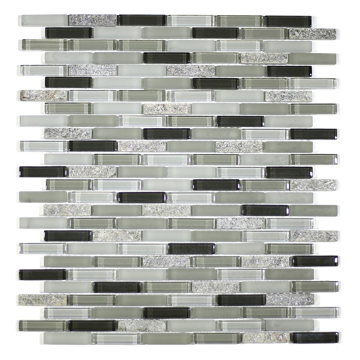 MA56-MB  MINI BRICK GLASS AND STONE MOSAIC MIX