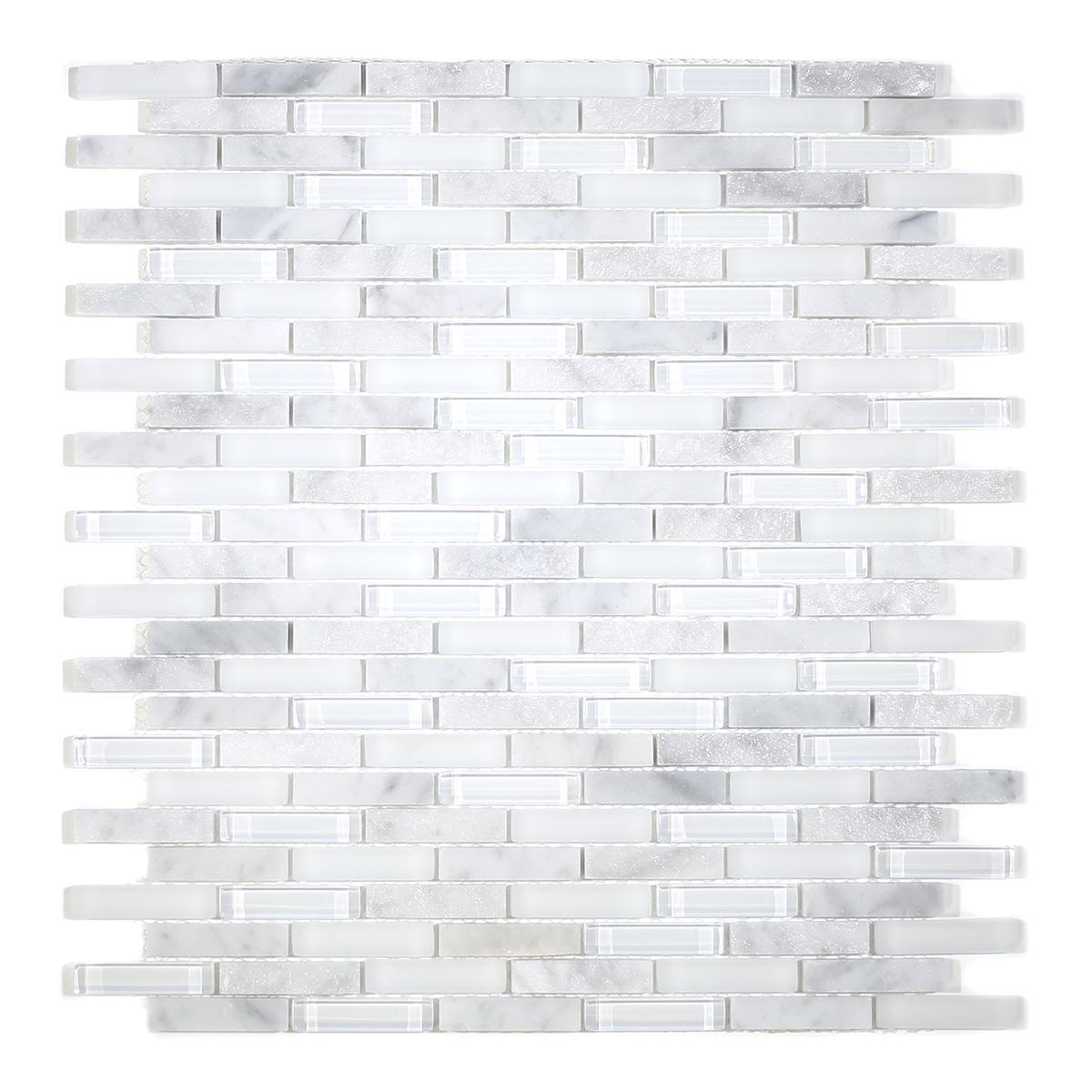 MA76-MB  MINI BRICK GLASS AND STONE MOSAIC MIX