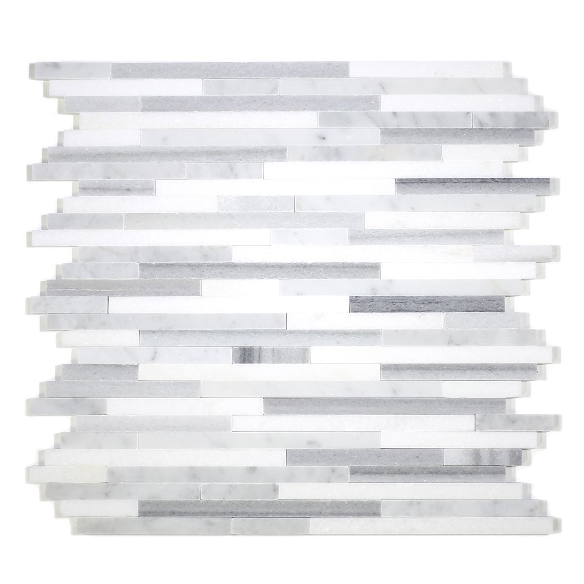 MA202-ST  3/8 Carrara, marwa, thasos Strips without space polished