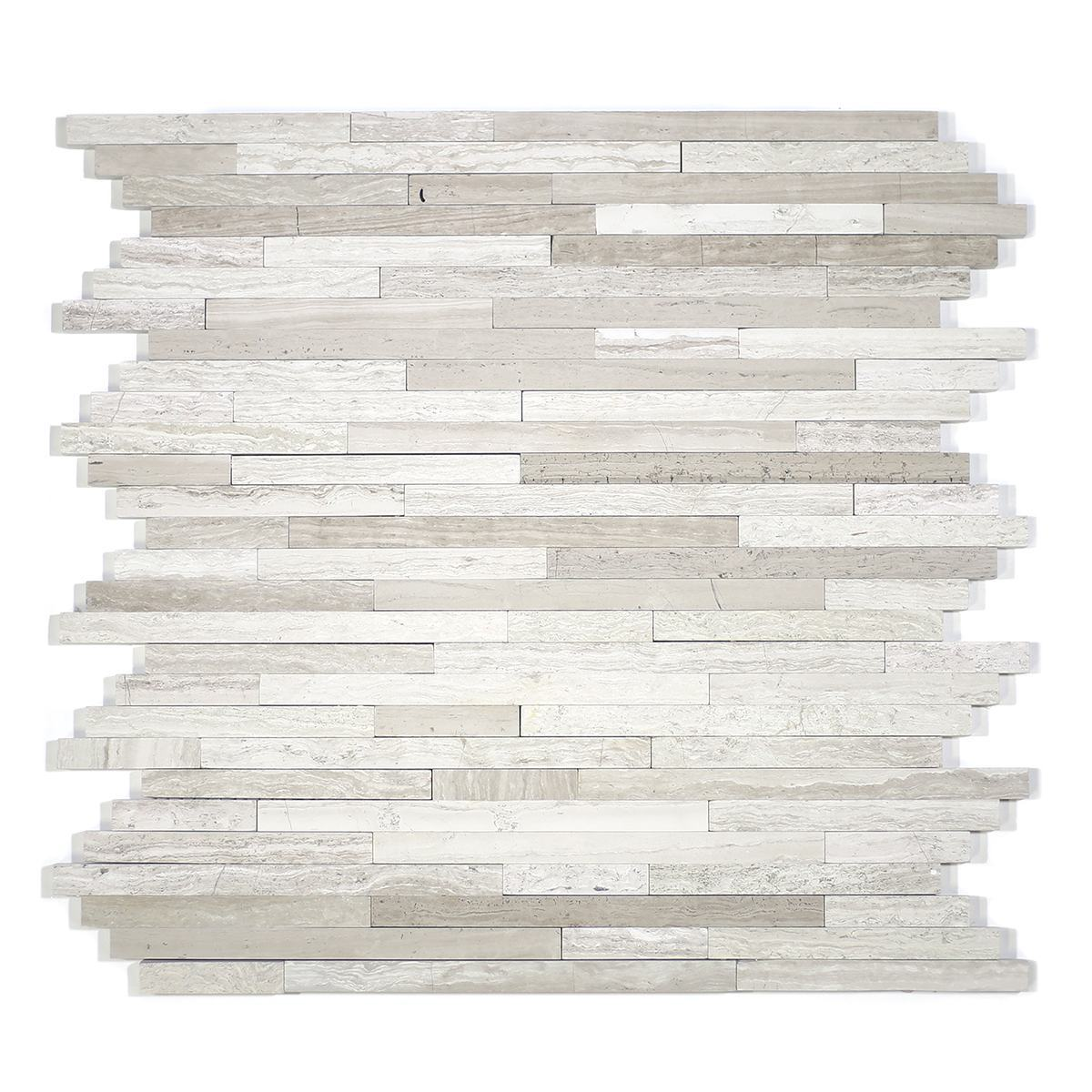 MA203-ST 3/8 Wooden white Strips without space polished