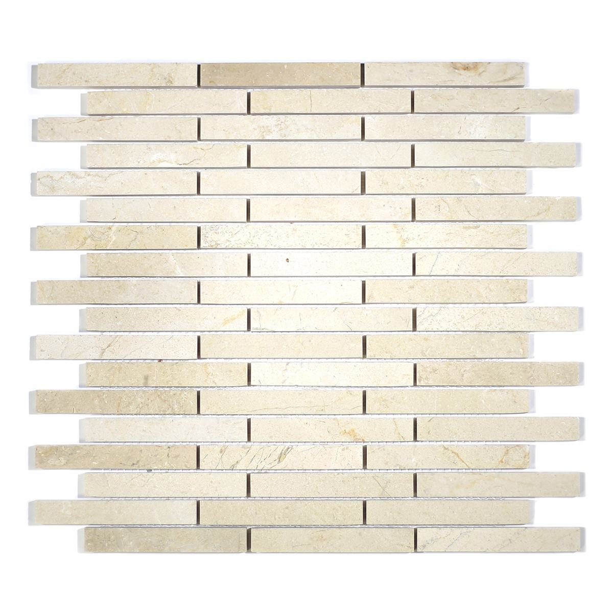 MA210-ST  5/8 Crema Marfil Strips with space polished