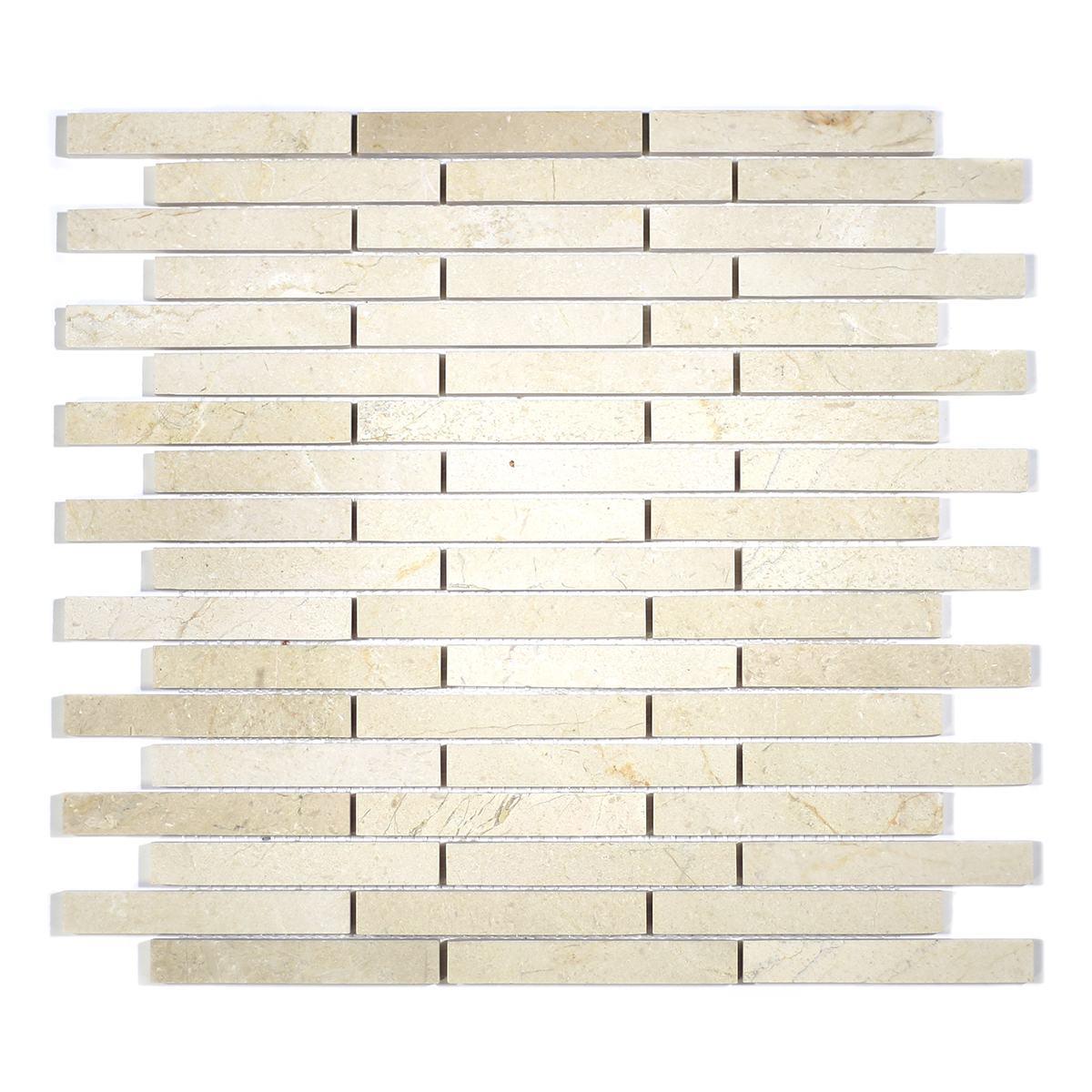 MA210-ST  5/8 Crema Marfil Strips with space polished