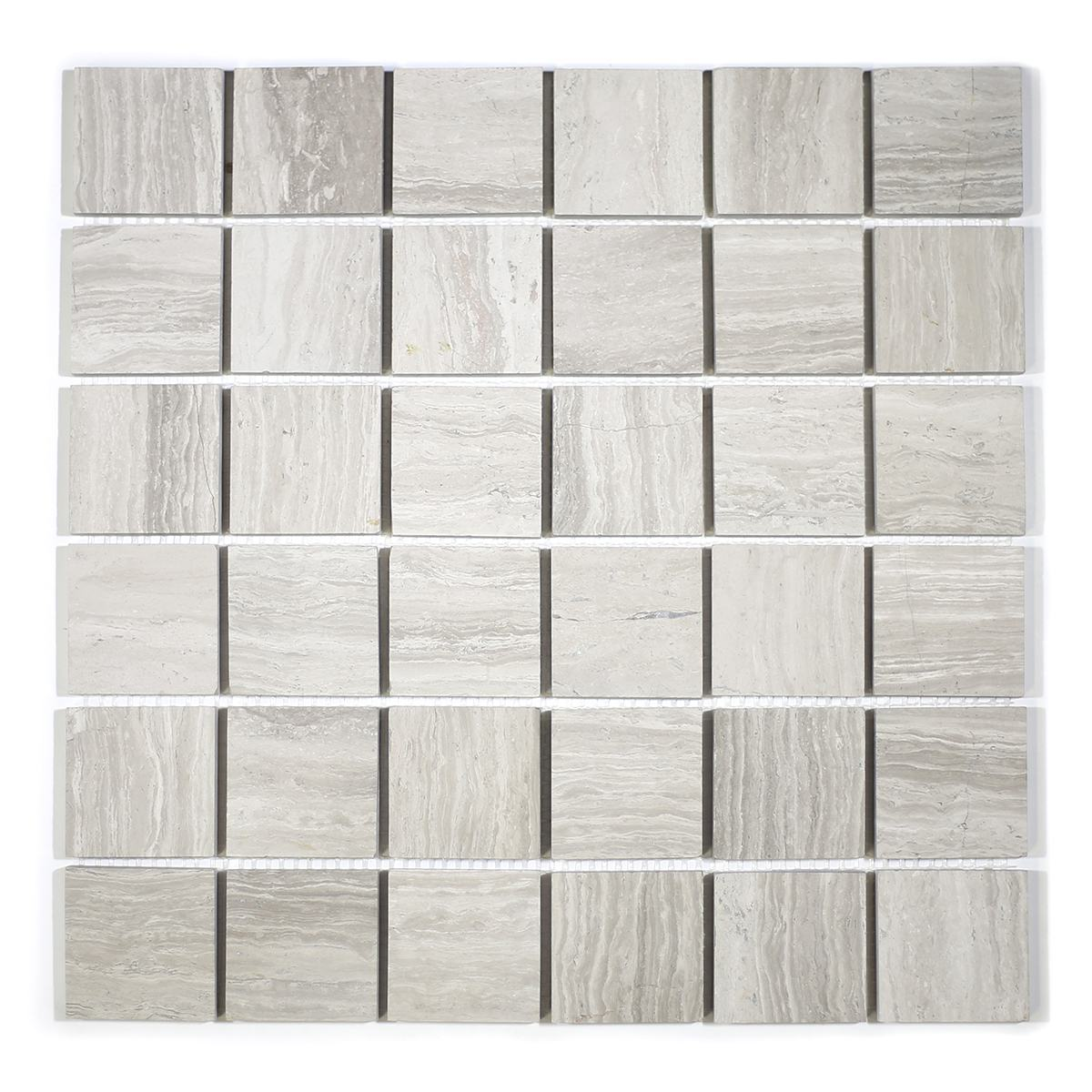 MA265-WHH  2 x 2 White Wooden HONED