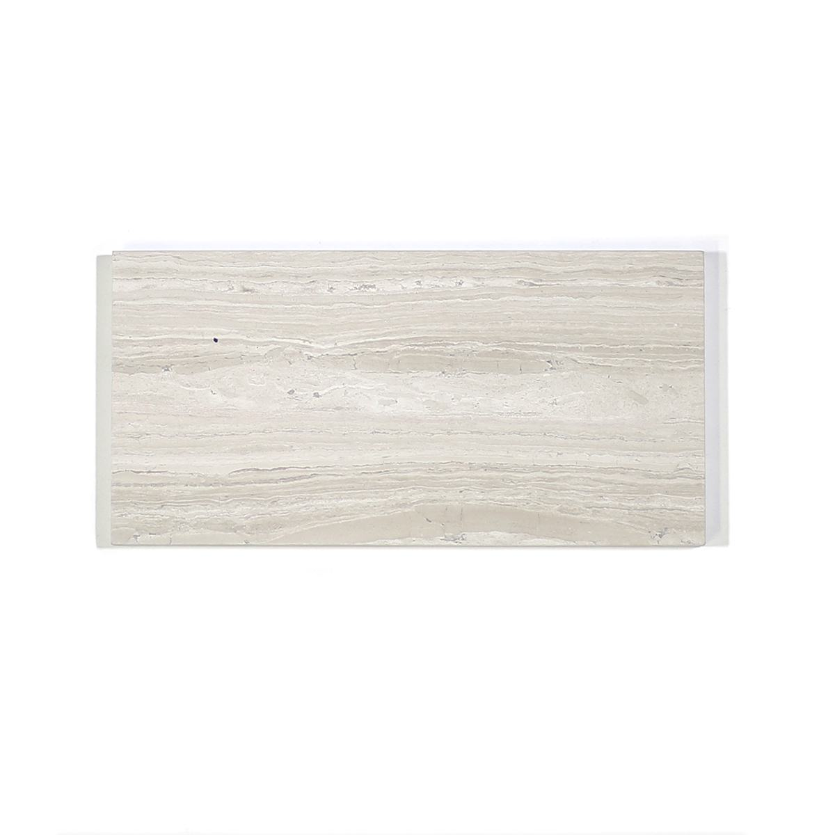 MA332-WHH  3 x 6 Wooden White  Marble