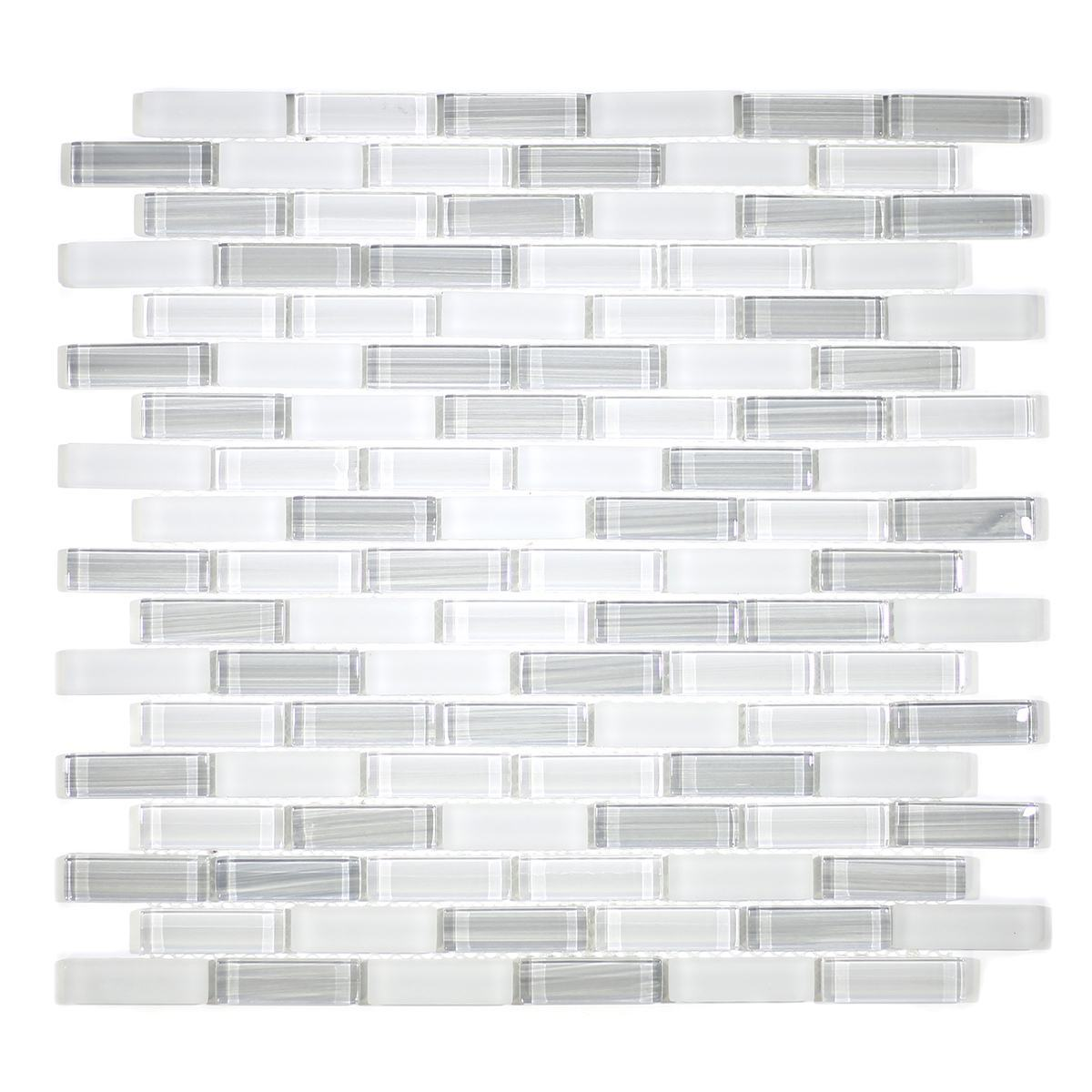 "MA52-LB  2""  BRICK GLASS MOSAIC BLEND"