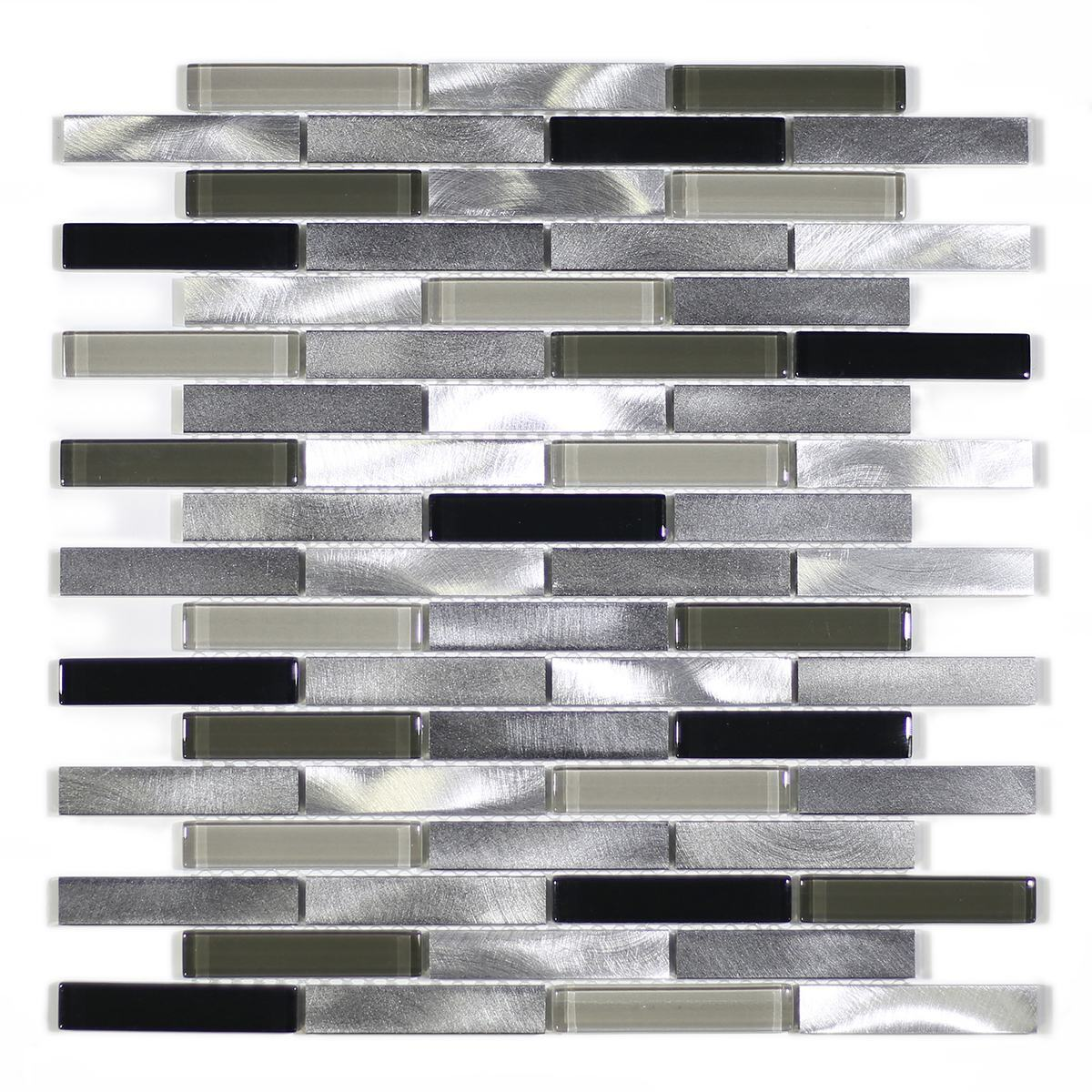 "MA64-B  3"" BRICK GLASS, STONE AND ALUMINUM COATING MOSAIC MIX"