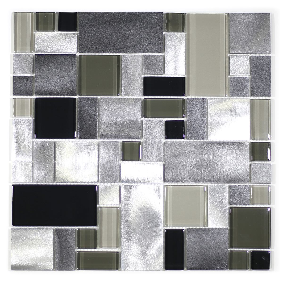 MA64-RM  RANDOM GLASS, STONE AND ALUMINUM COATING MOSAIC MIX