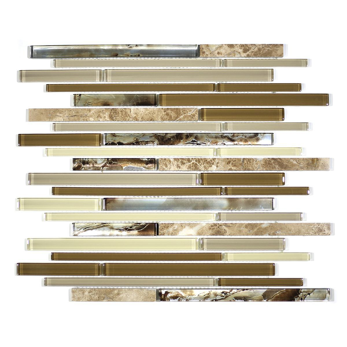 MA74-RB  RANDOM BRICK GLASS AND STONE  MOSAIC