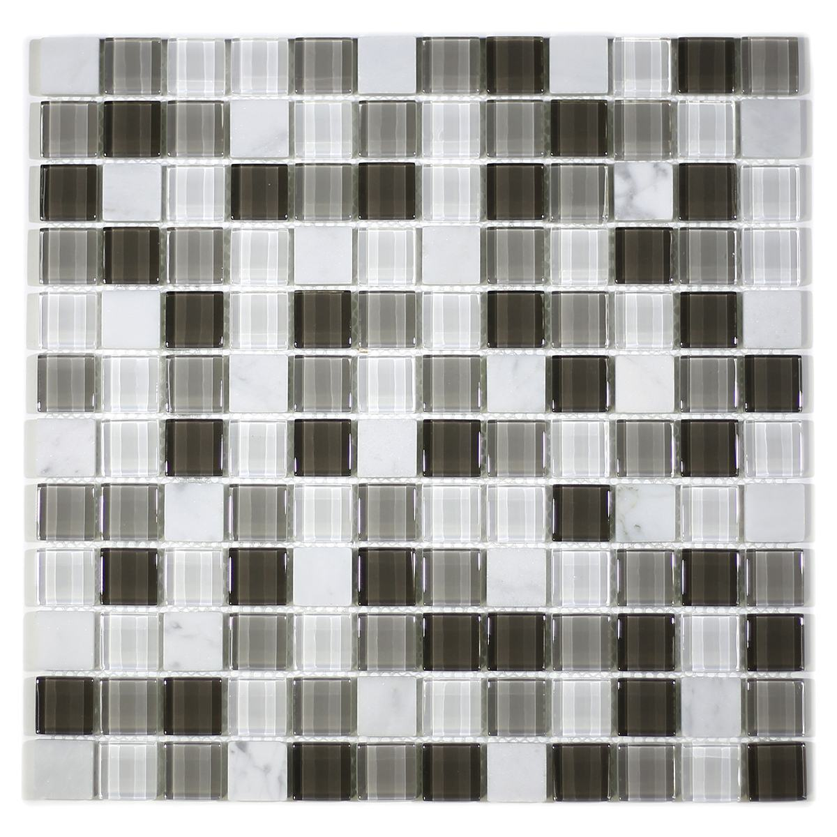 "MA83-LS  1"" SQUARE GLASS MOSAIC BLEND"