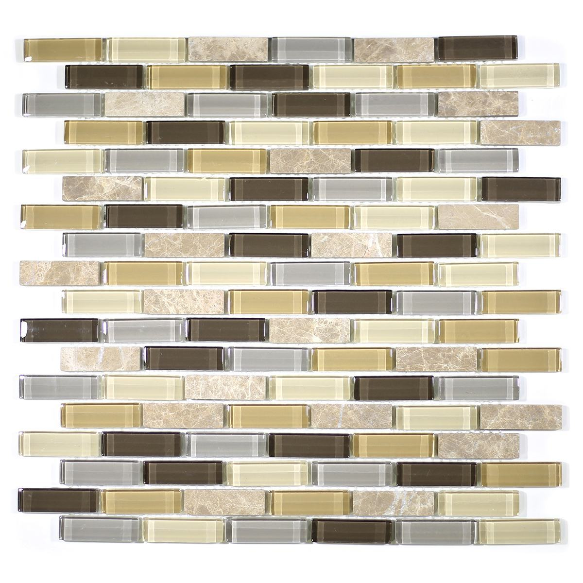"MA01-LB  2""  BRICK GLASS MOSAIC BLEND"