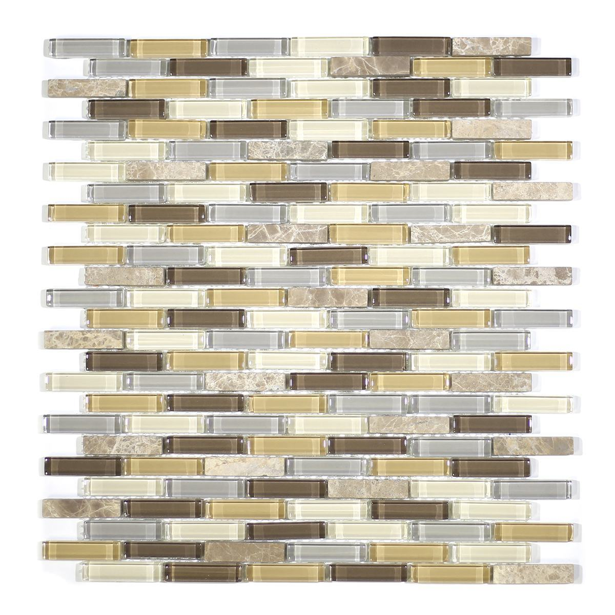 MA01-MB  MINI BRICK GLASS MOSAIC BLEND