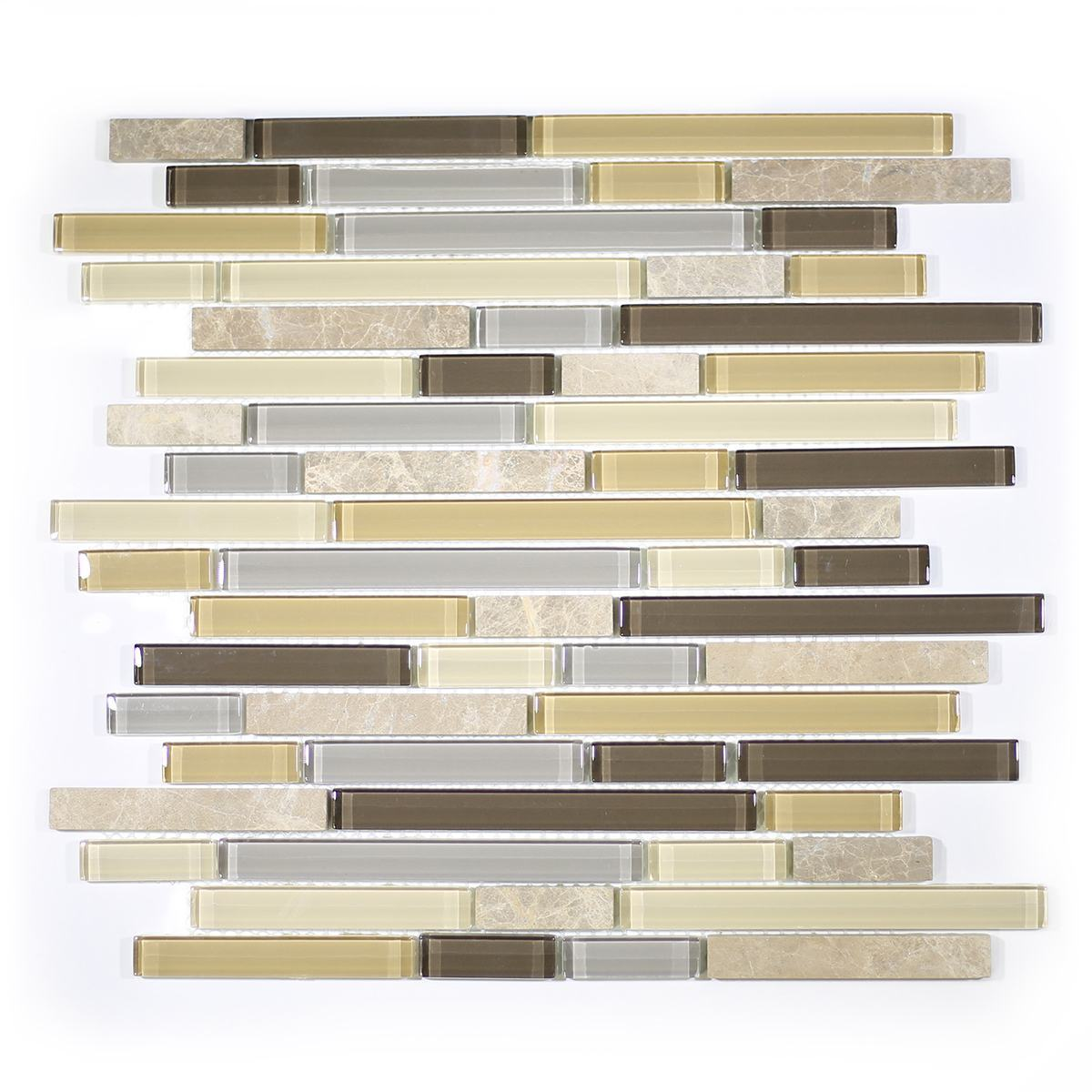 MA01-RB  RANDOM BRICK GLASS MOSAIC BLEND