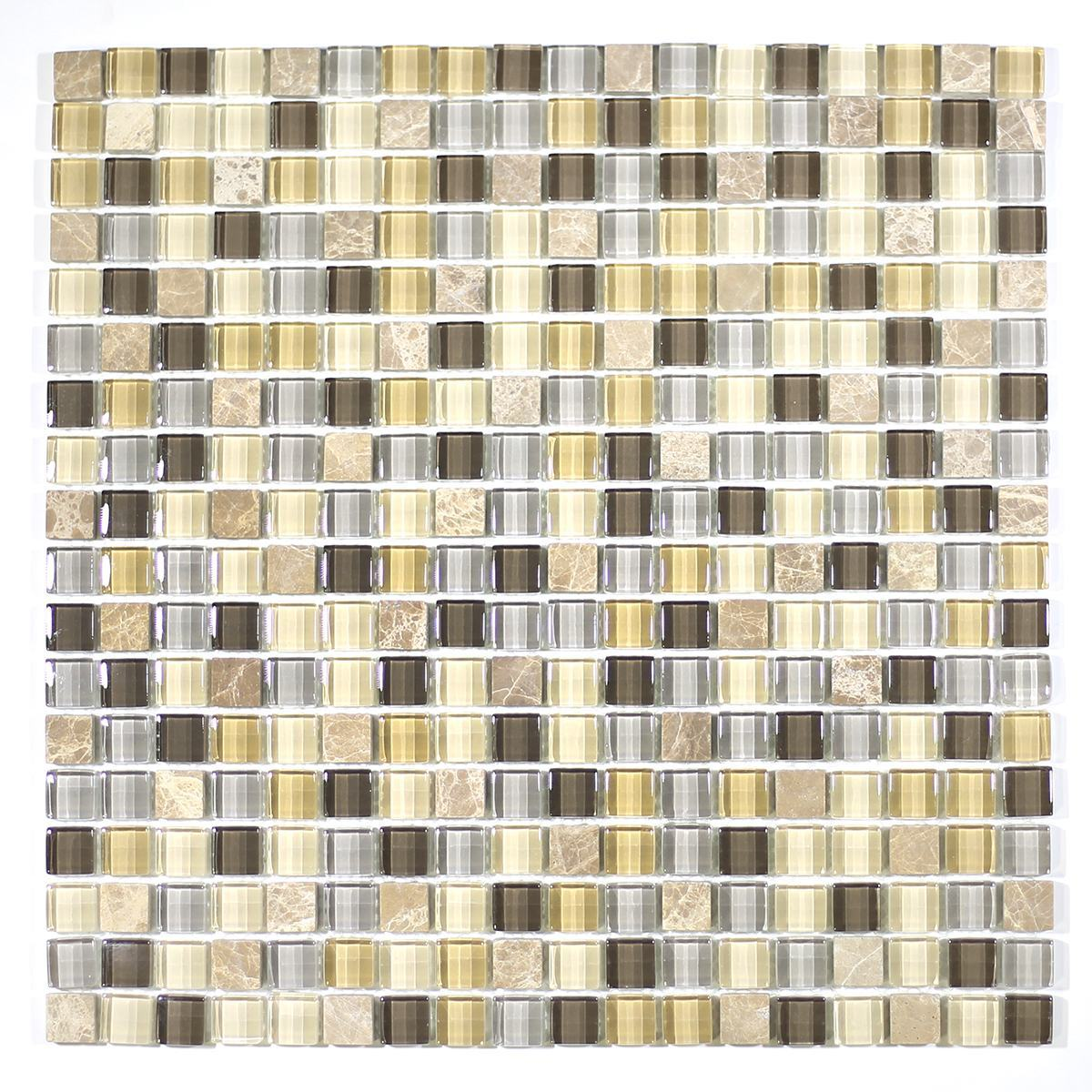 "MA01-S 5/8"" SQUARE GLASS MOSAIC BLEND"