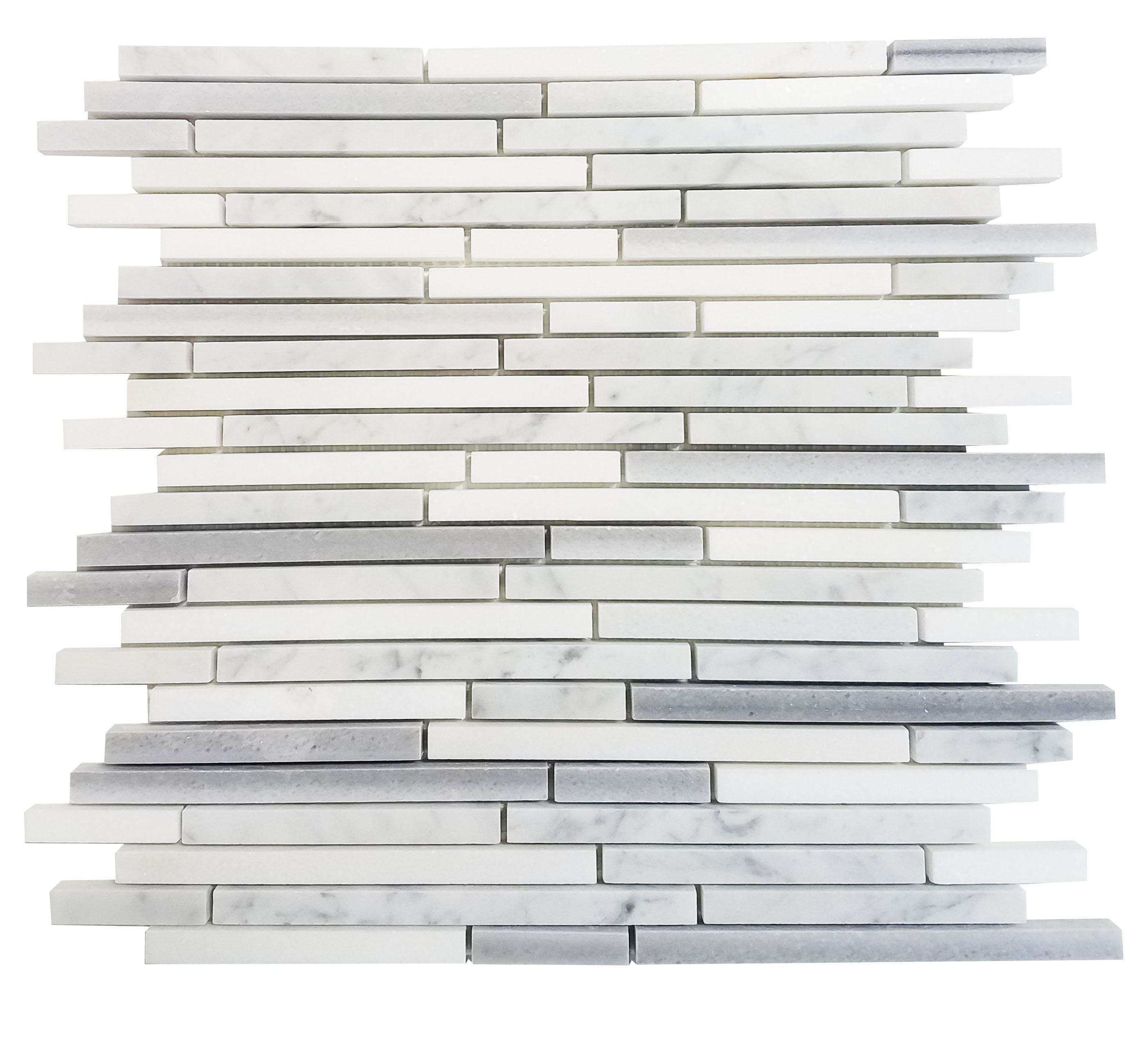 MA207-STS  3/8 Carrara, marwa, thasos Strips without space polished