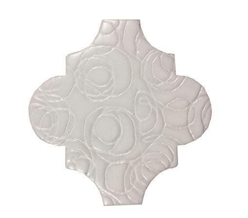 4 x 4 Provenzal Cammeo Nacar Porcelain