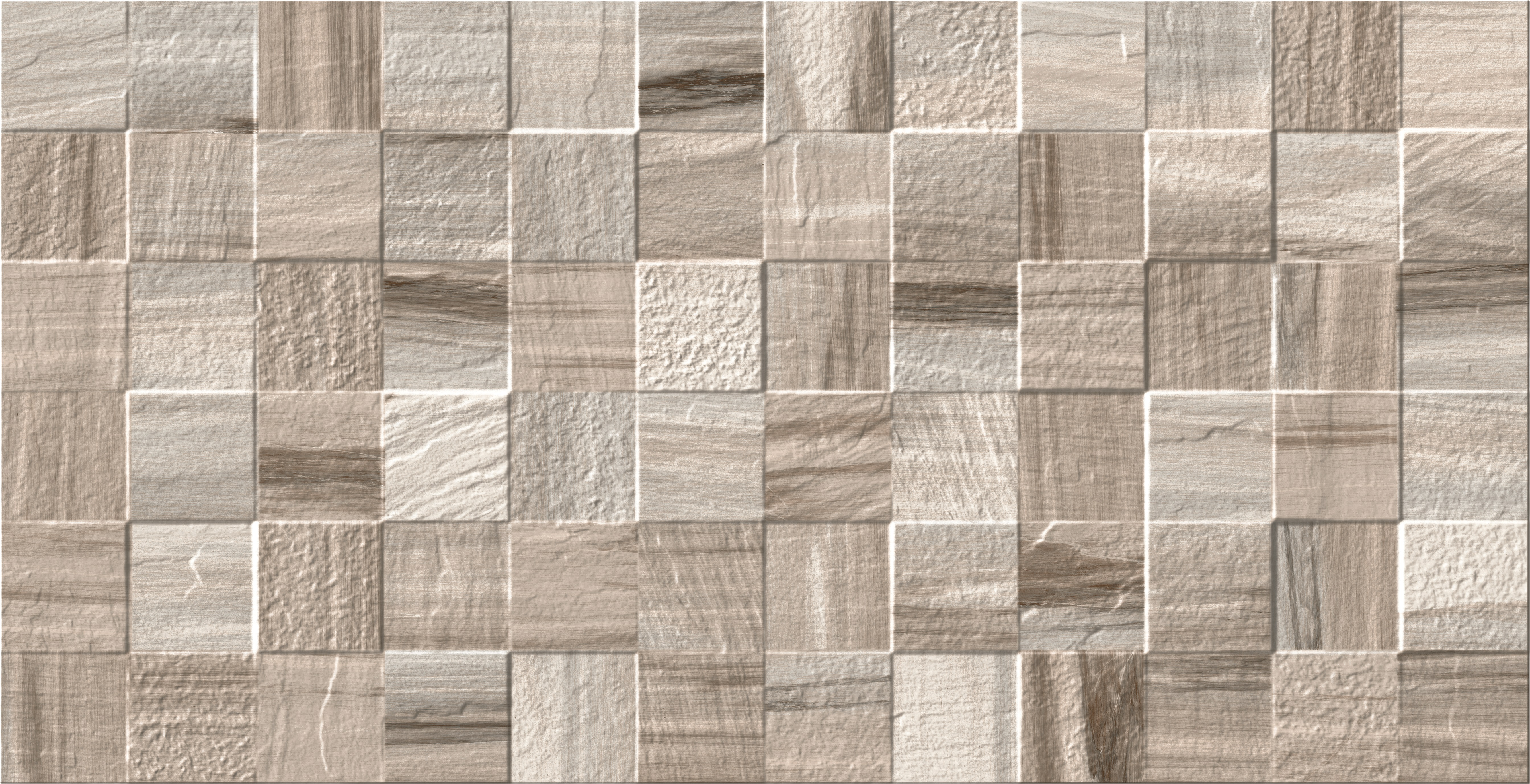 13.3 x 26 Hudson Brown Deco Porcelain tile wall and floor