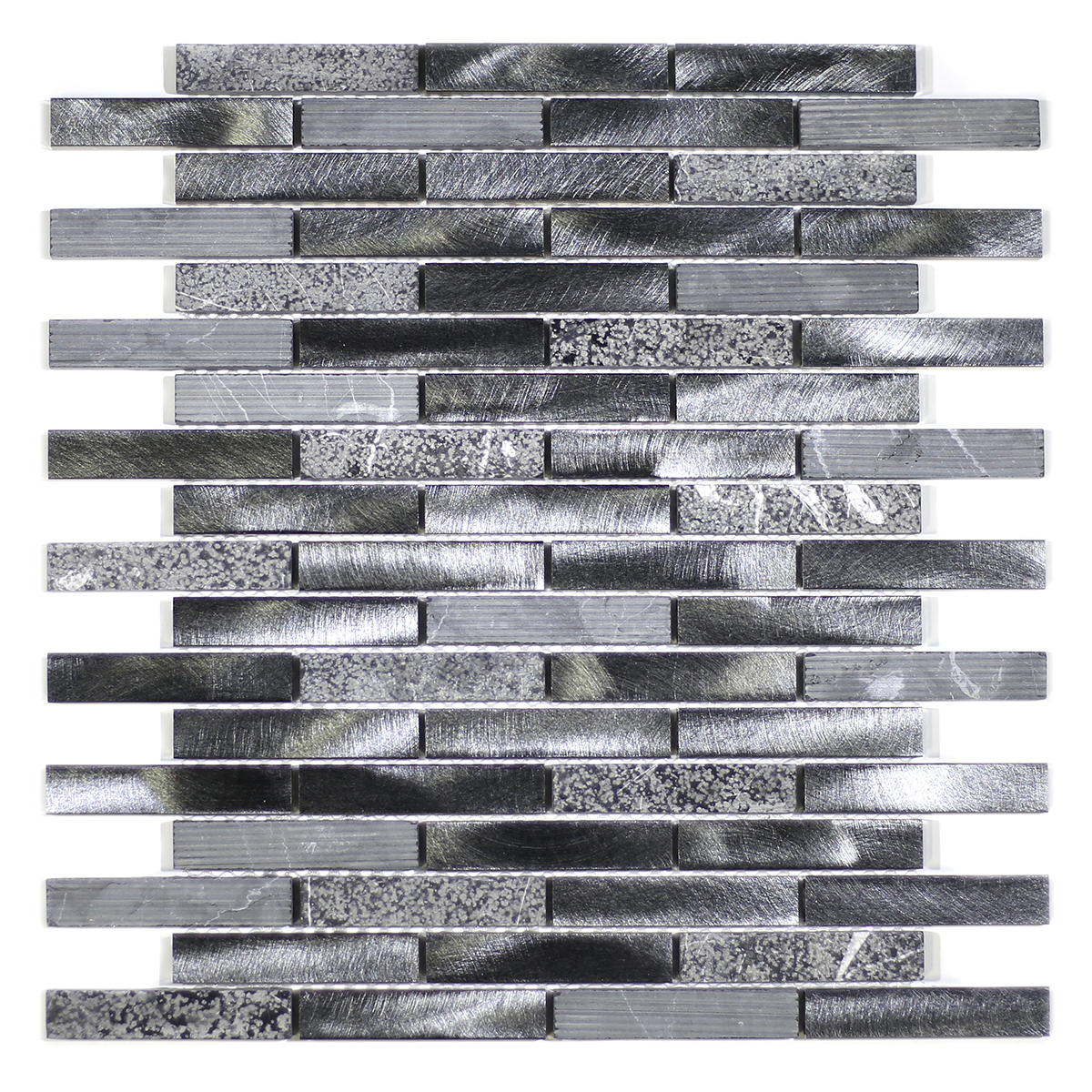 "MA59-B  3"" BRICK STONE AND ALUMINUM COATING MOSAIC MIX"