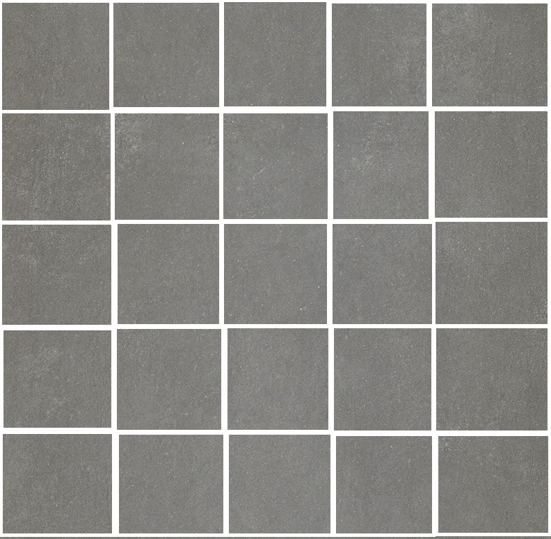 2 x 2 Space Gunmetal porcelain mosaic