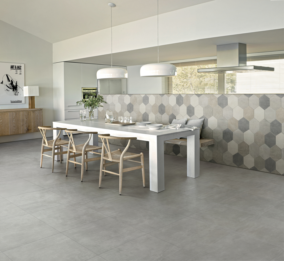 18 x 36 Icon Dove Grey Rect. Porcelain tile