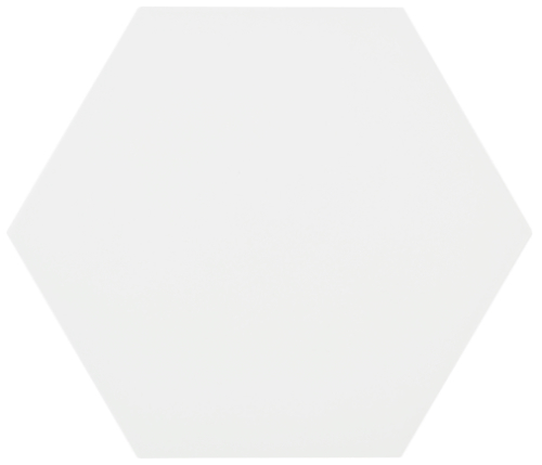 8 X 9 Meraki Blanco Matte Porcelain Hexagon