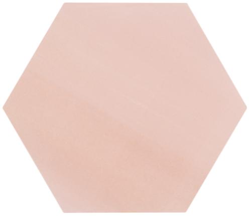 8 X 9 Meraki Rosa Matte Porcelain Hexagon