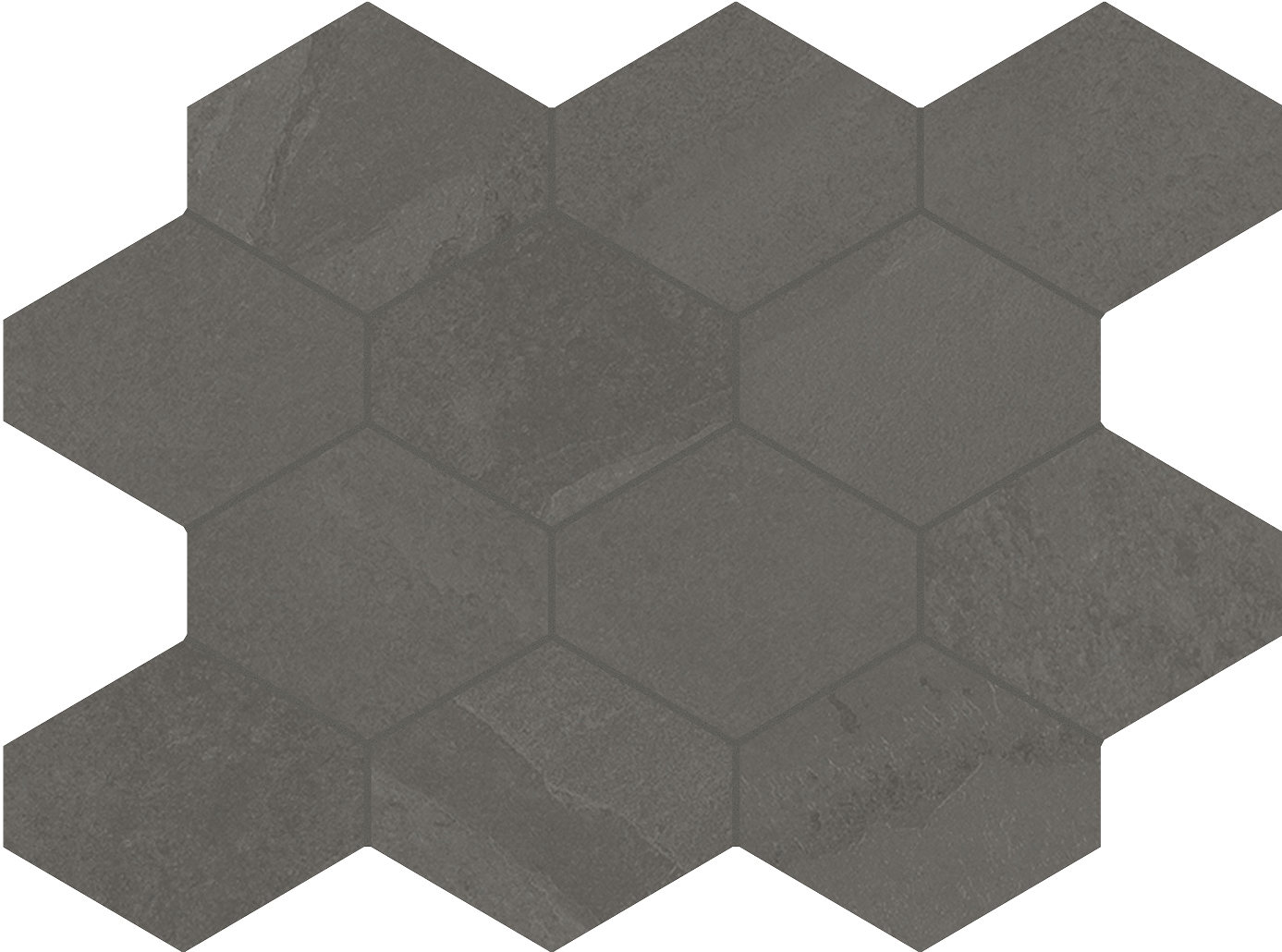 4 x 4 Brazilian Slate Elephant Grey Rectified Porcelain hexagon