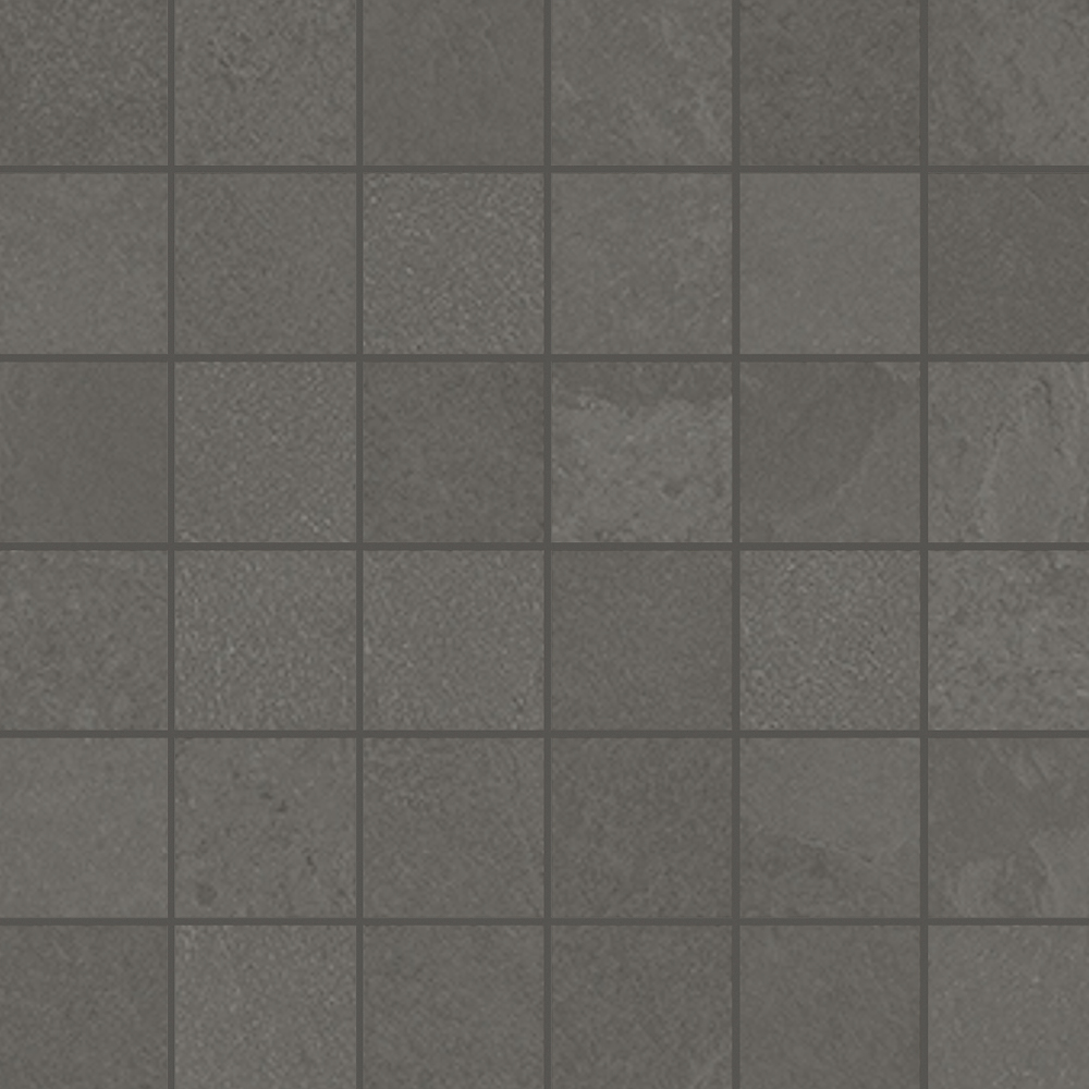 2 x 2 Brazilian Slate Elephant Grey Rectified Porcelain mosaic