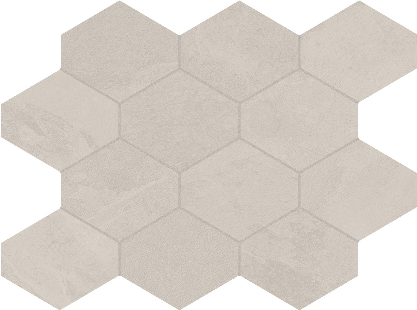 4 x 4 Brazilian Slate Oxford white Rectified Porcelain hexagon