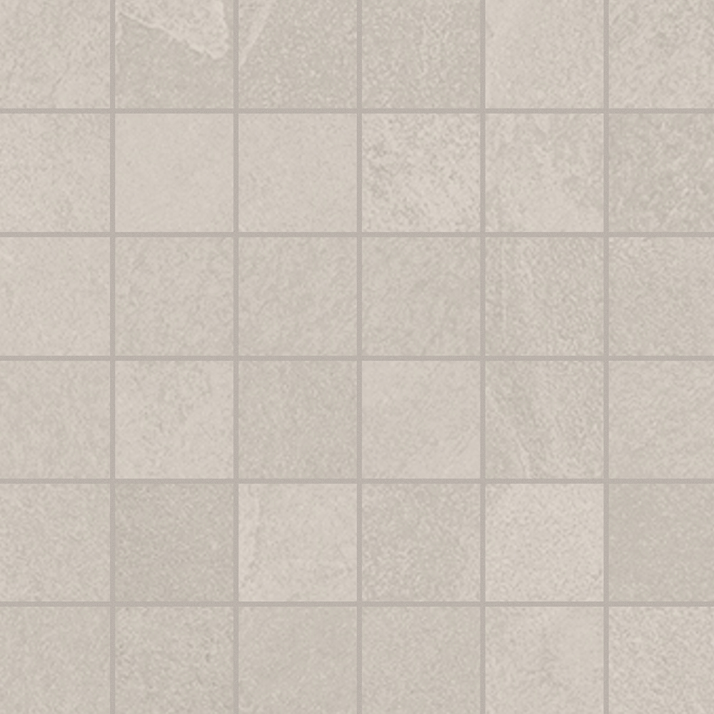 2 x 2 Brazilian Slate Oxford white Rectified Porcelain mosaic