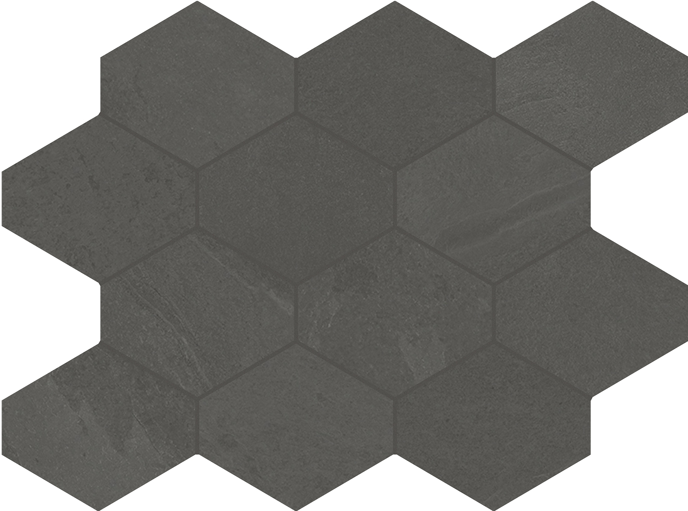 4 x 4 Brazilian Slate Pencil Grey Rectified Porcelain hexagon
