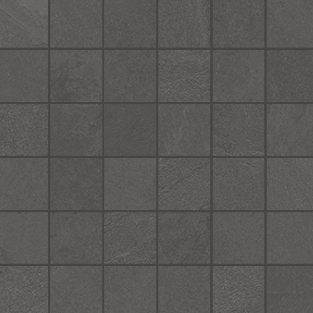 2 x 2 Brazilian Slate Pencil Grey Rectified Porcelain mosaic