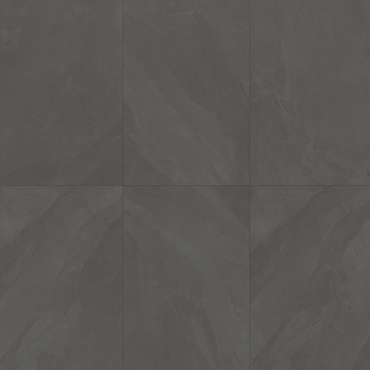 24 x 48 Brazilian Slate Pencil Grey Rectified Porcelain tile