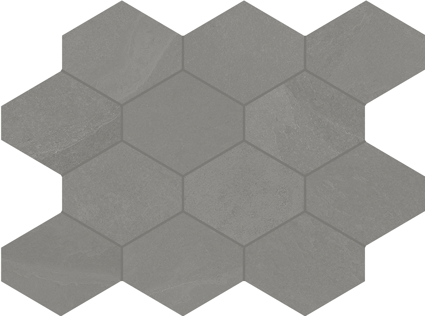 4 x 4 Brazilian Slate Silk Grey Rectified Porcelain hexagon