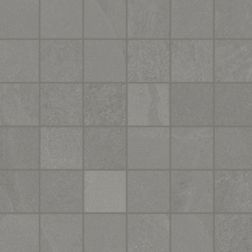 2 x 2 Brazilian Slate Silk Grey Rectified Porcelain mosaic
