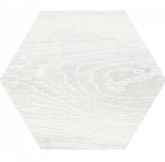 9 x 9 Yosemite Blanco wood look porcelain hexagon