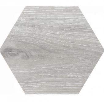 9 x 9 Yosemite Gris wood look porcelain hexagon